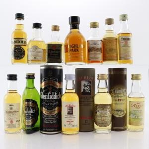 Single Malt Scotch Whisky Miniatures x 12