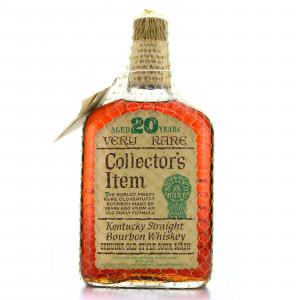 Collector's Item 1955 Bottled in Bond 20 Year Old 100 Proof