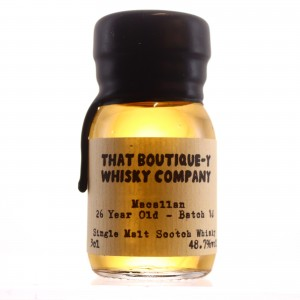 Macallan 26 Year Old That Boutique-y Whisky Company Batch #10 Sample