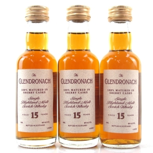 Glendronach 15 Year Old 1990s Miniatures 3 x 5cl / US Imports