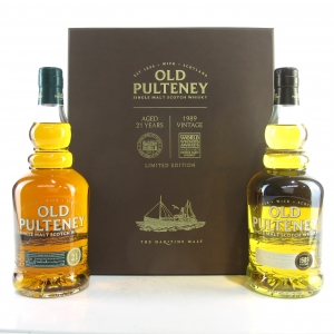 Old Pulteney World's Best Whiskies Pack 2 x 70cl / 21 Year Old & 1989 Vintage