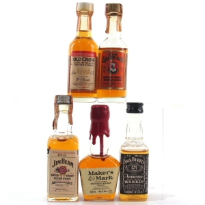American Whiskey Miniatures x 5