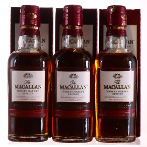 Macallan Whisky Maker's Edition Miniatures x 3