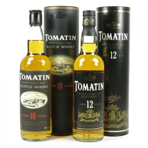 Tomatin 12 Year Old and 10 Year Old 2 x 70cl