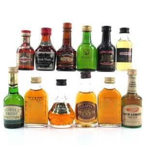 Miscellaneous Liqueur Miniature Selection x 12