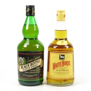 Black Bottle & White Horse 2 x 70cl