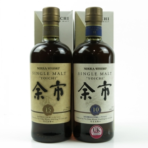 Yoichi 10 Year Old and 15 Year Old / 2 x 70cl