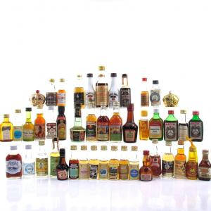 Miscellaneous Spirit & Liqueur Miniature Selection x 45