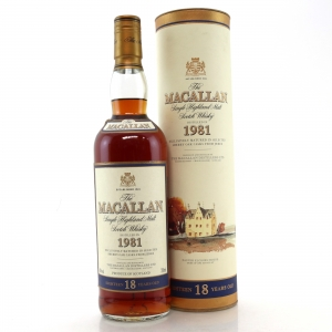 Macallan 1981 18 Year Old