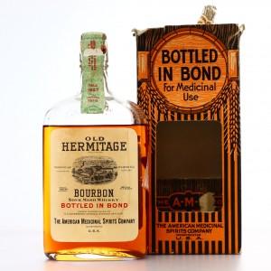 Old Hermitage 1916 AMS Co Bourbon Pint / Prohibition Era Bottling