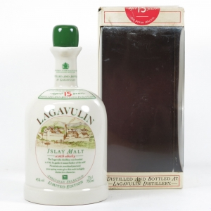 Lagavulin 15 Year Old Decanter 1980s Front