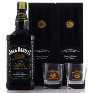 Jack Daniel's 1914-1915 Double Gold Medal 1 Litre with Glasses