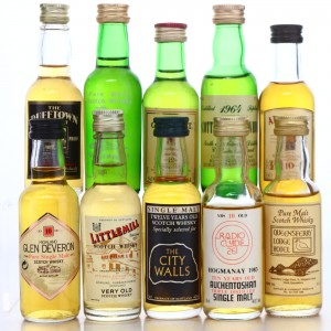 Single Malt Miniatures x 10 / Includes Littlemill