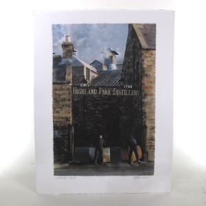 Highland Park Gates - Hand Signed by Artist Ian Gray 300g Watercolour Paper