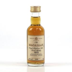 Macallan 1972 Bottled 1990 Miniature 5cl