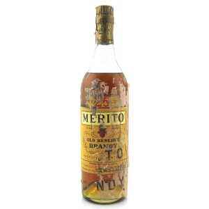 Merito Old Reserve 25 Year Old Brandy 1940s / US Import