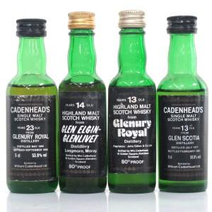 Cadenhead's Miniatures Selection x 4