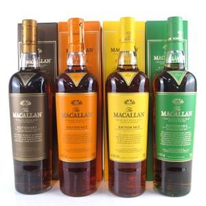Macallan Edition No.1-4 Collection x 4