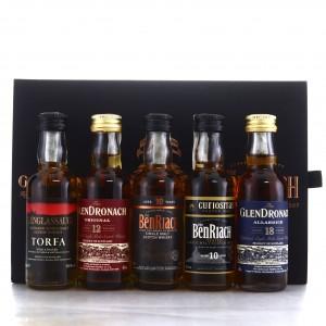 Glendronach, Glenglassaugh & Benriach Miniature x 5
