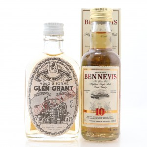 Ben Nevis & Glen Grant Miniatures x 2