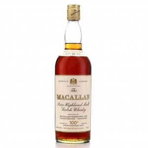 Macallan 10 Year Old Gordon and MacPhail 100 Proof 1970s