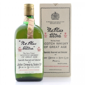 John Dewar's & Sons 12 Year Old Ne Plus Ultra 1960s