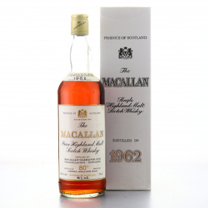 Macallan 1962 Campbell, Hope and King 80 Proof