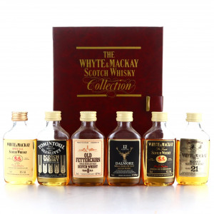 Whyte and Mackay Scotch Whisky Collection Miniatures x 6 / includes Dalmore
