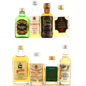 Scotch Malt Whisky Miniatures x 8