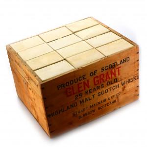 Glen Grant 25 Year Old Stuart MacNair 12 x 4/5 Quart 1960s / Case - US Import