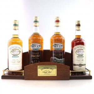 Bowmore Collection / Legend, 12, Cask Strength & Darkest 4 x 70cl With Display Stand
