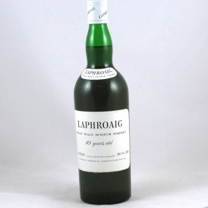 Laphroaig 10 Year Old 1970s (26 2/3rd fl.oz 70 proof) Front