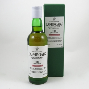 Laphroaig 10 Year Old Cask Strength 35cl front