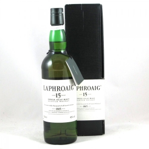 Laphroaig 15 Year Old Pre-Royal Warrant Front