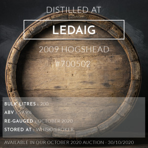 Ledaig 2009 Hogshead #700502 / Cask in storage at Whiskybroker