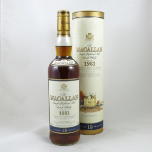 Macallan 1981 18 Year Old Front