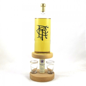 Rangers Hand Crafted Bottle and Glasses Front