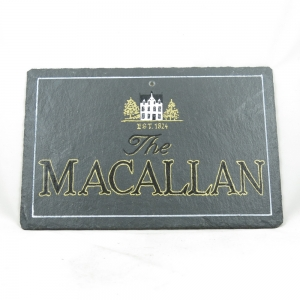 Macallan Whisky Slate Front