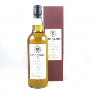 Springbank 1997 Rum Butt 9 Year Old Front