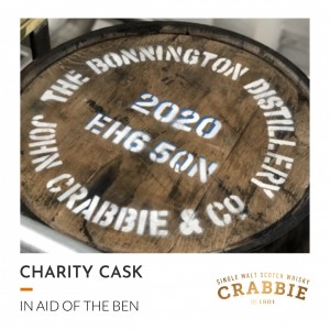1 Bonnington 2020 Unpeated ex-Bourbon Barrel - Charity Lot