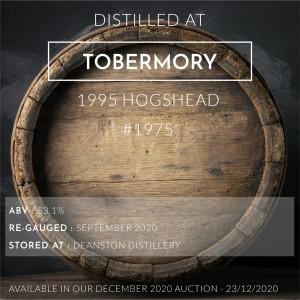 1 Tobermory 1995 Hogshead #1975 / Cask in storage at Deanston distillery