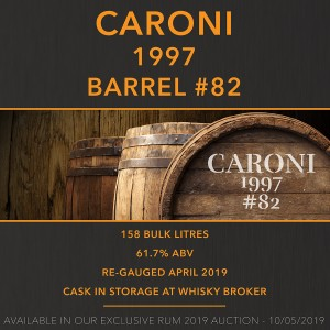 1 Caroni 1997 Barrel #82 / Cask in storage at Whiskybroker