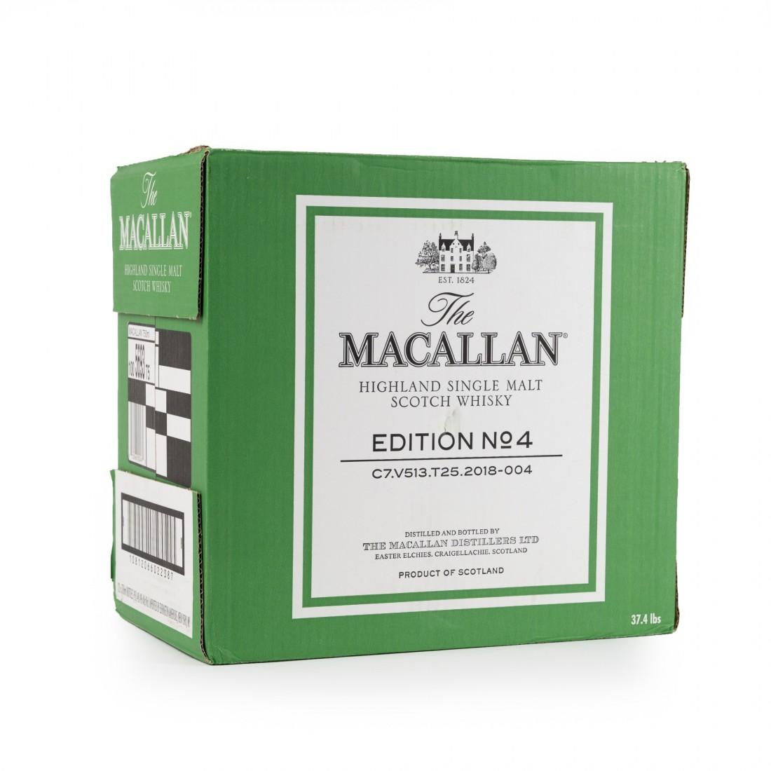 Macallan Edition No.4 12 x 75cl / US Import - Case