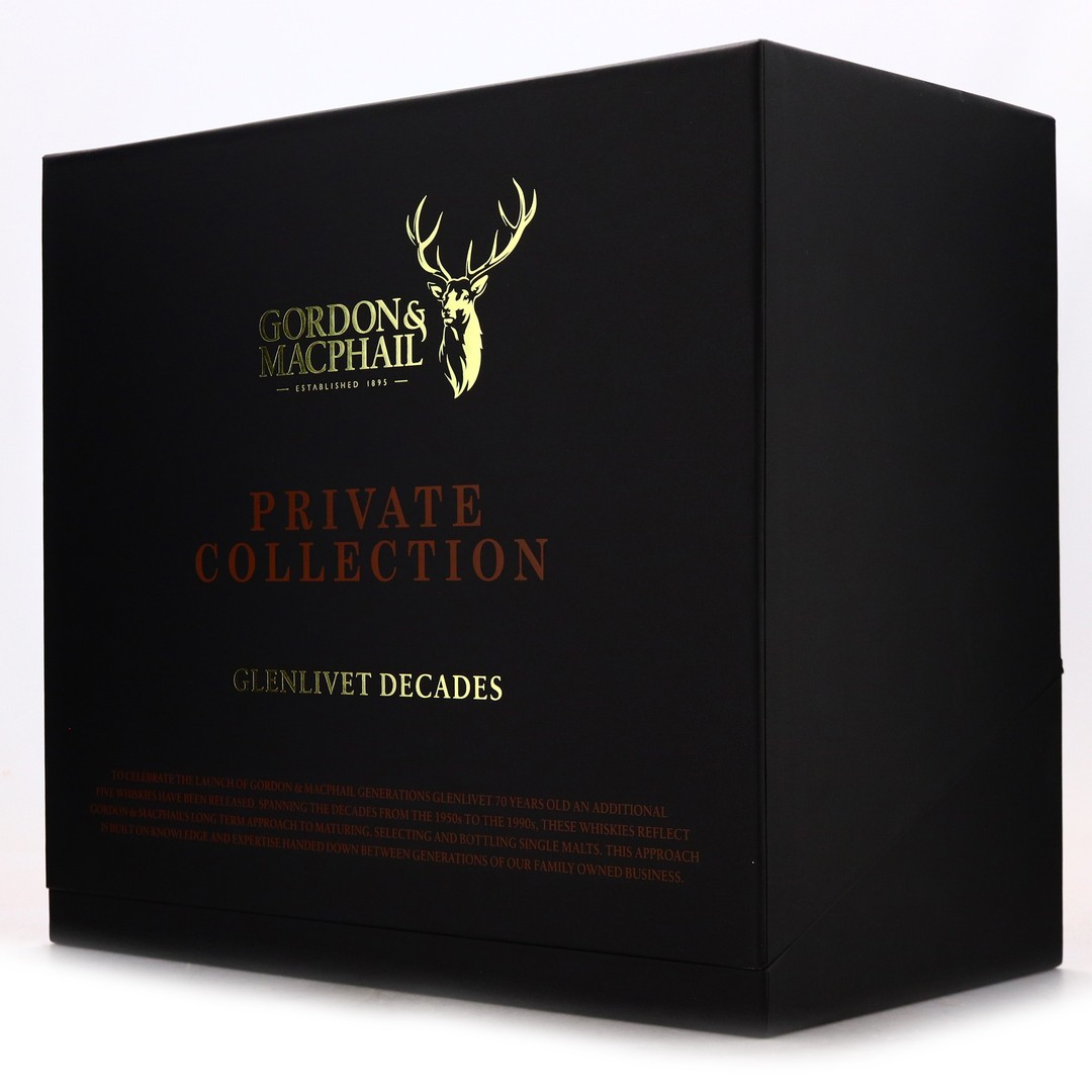 Glenlivet Decades Gordon and MacPhail Private Collection 5 x 70cl