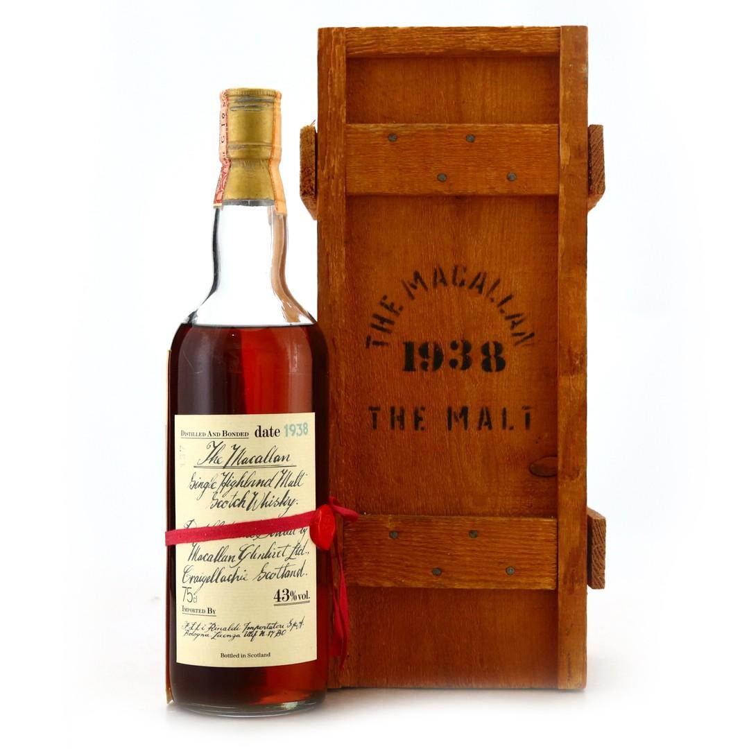 Macallan 1938 Handwritten Label / Rinaldi Import