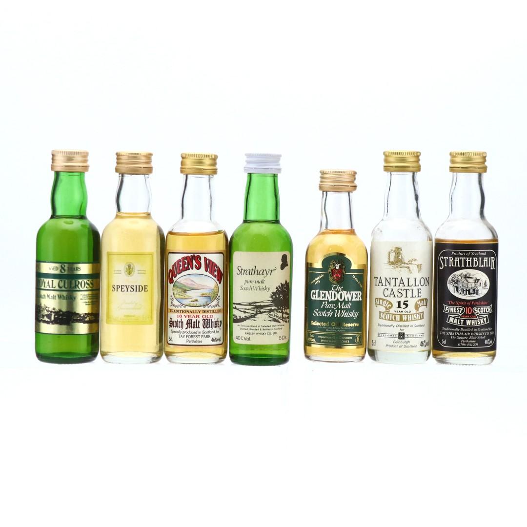 Scotch Malt Whisky Miniatures x 7