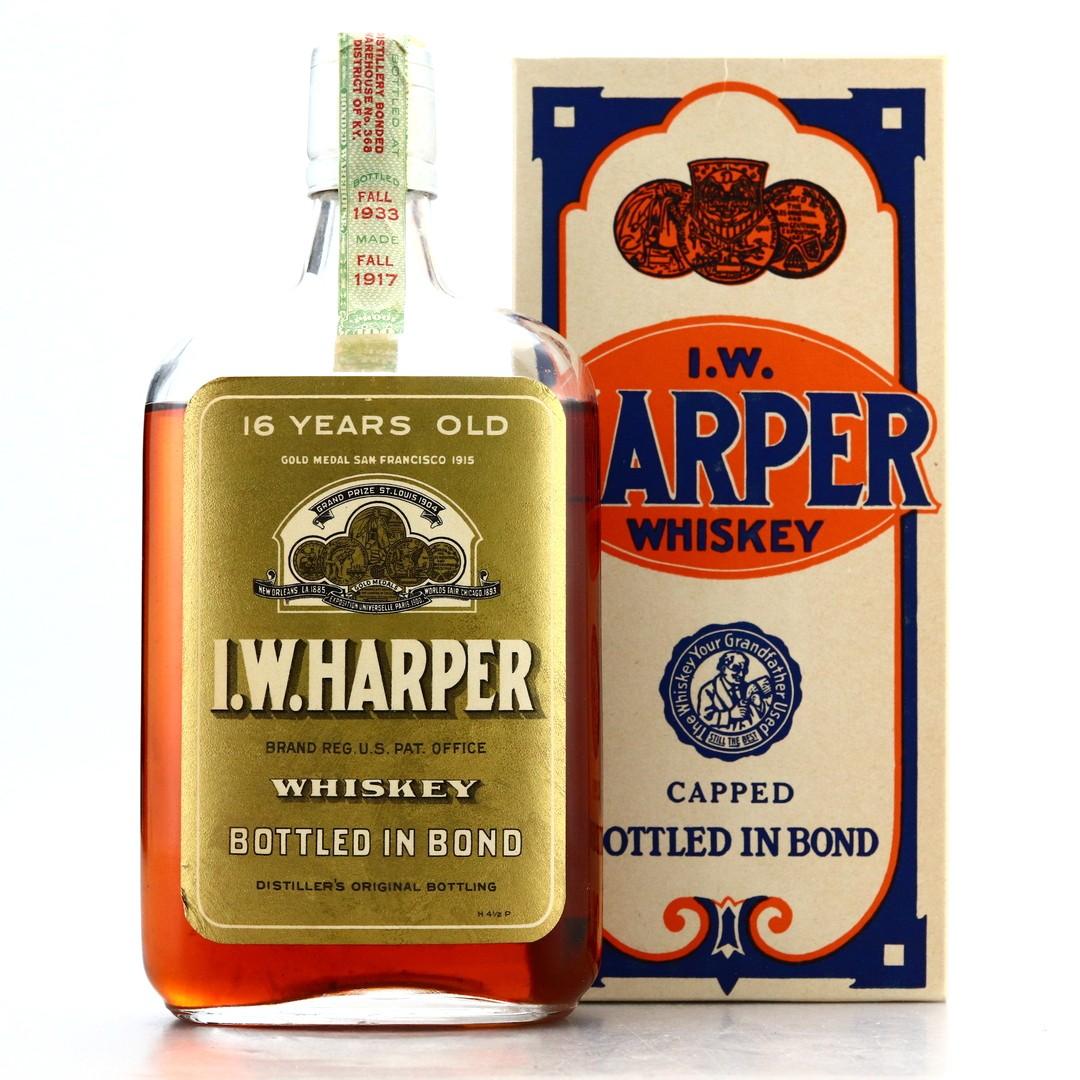 I.W Harper 1917 Bottled in Bond 16 Year Old Pint / Prohibition Era Bottling