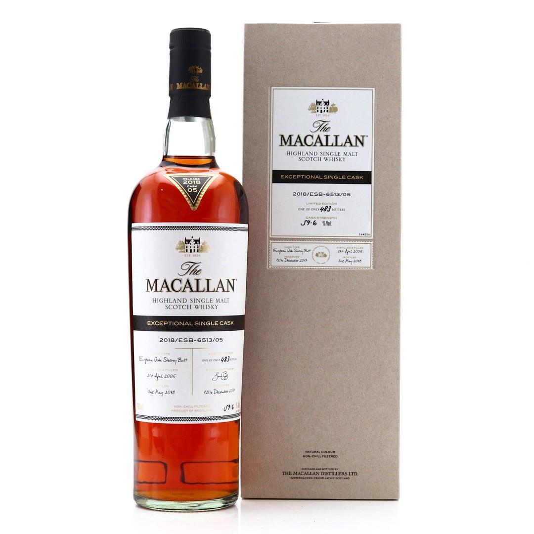 Macallan 2005 Exceptional Cask #6513-05/ 2018 Release