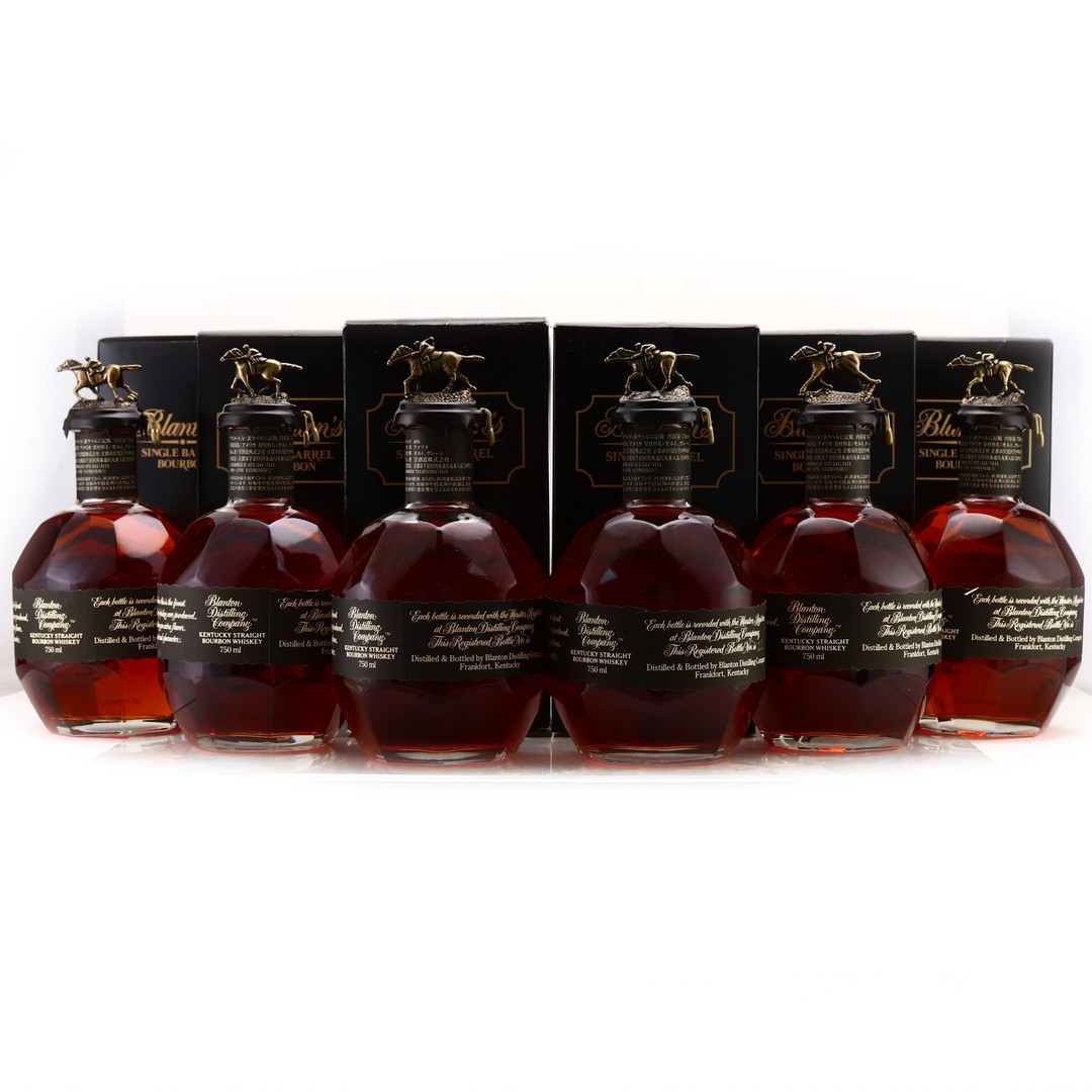 Blanton's Single Barrel Black Label Dumped 2017 & 2020 6 x 75cl / Japanese Import - Case