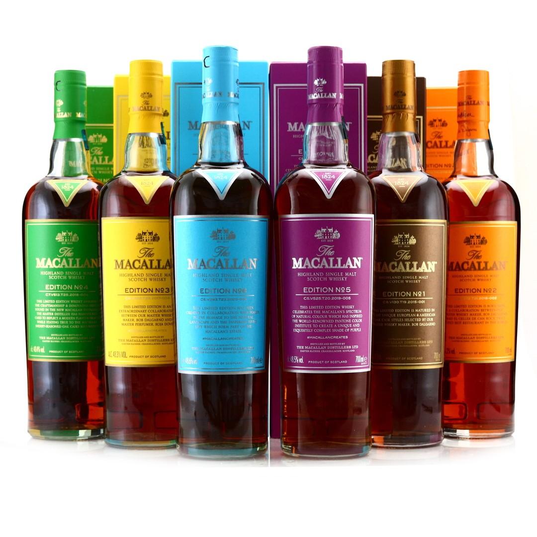 Macallan Edition No.1-6 Collection 6 x 70cl